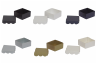 Pearlescent Scalloped Lid Wedding Favour Boxes - Choose Colour - Choose QTY